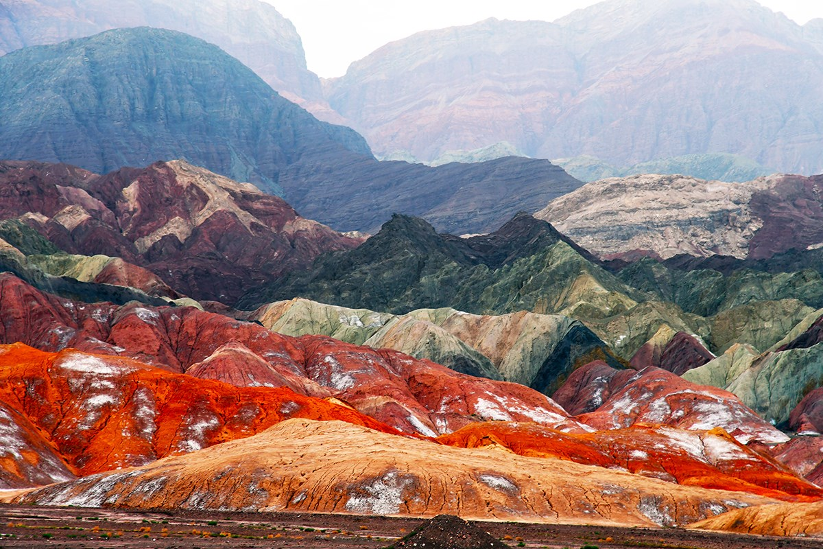 Danxia Landscape between Kucha and Aksu | Foto von Liu Bin