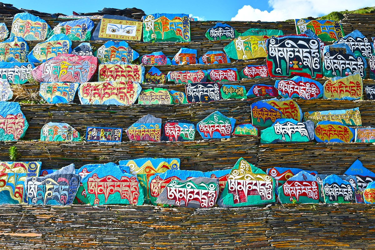 Grand Mani Wall in Tagong | Foto von Liu Bin